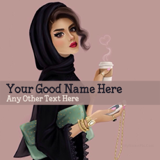 name pictures - Arab Girl Drawing