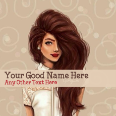 Awesome Hair Girl - Design your own names