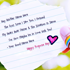 Best Propose Day Wishes - Design your own names