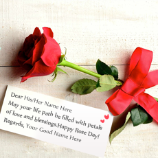 Happy Rose Day name pictures - Best Rose Day Greeting