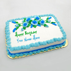 Birthday Cakes name pictures - Birthday Flowers Cake