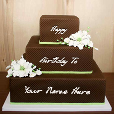 Birthday Cakes name pictures - Chocolate Shaped Birthday Cake