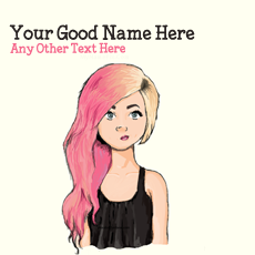 name pictures - Colorful Hair Girl