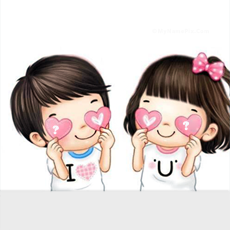 Alphabets name pictures - Cute Couple Hearts
