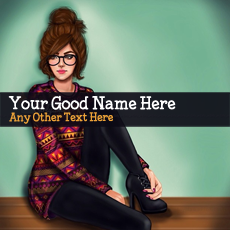 Cute Girl Drawing - Design your own names