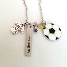 Jewelry name pictures - Football Neckalce