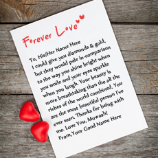 Forever Love Note - Design your own names