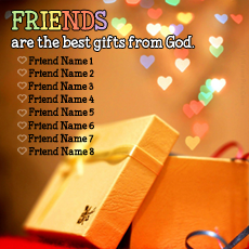 Friendship name pictures - Friends Are Gift