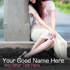 Girl Waiting - Design your own names