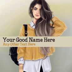 Girl with Bag - Design your own names