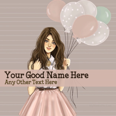 Girl With Baloons - Design your own names