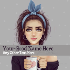 Girl with Cup - Design your own names