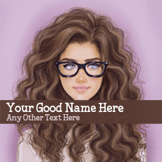 Glasses Girl Drawing - Design your own names