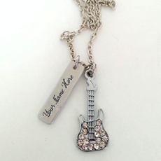 Guitar Plate Necklace - Design your own names