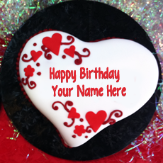 Heart Shaped Birthday Cake - Design your own names