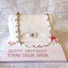 Bag Girly Cake - Design your own names