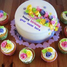 Beautiful Birthday Cake Writing - Design your own names