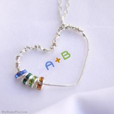 Beautiful Heart Necklace - Design your own names