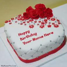 Beautiful Rose Cake - Design your own names