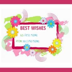Best Wishes - Design your own names
