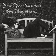Boy Waiting - Design your own names