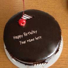 Chocolate Cherry Cake - Design your own names