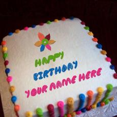 Colorful Birthday Cake - Design your own names