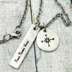 Compass Necklace - Design your own names