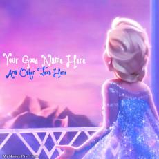 Cute Elsa Frozen - Design your own names