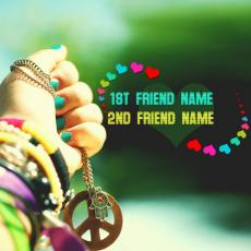 Friendship name pictures - Friendship Hearts and Bands