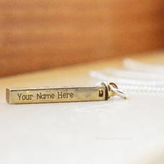 Golden Charm Pendant - Design your own names