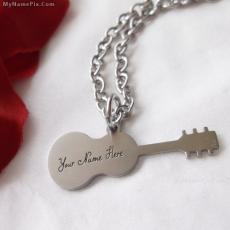 Jewelry name pictures - Guitar Necklace