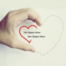 Love name pictures - Hand Heart