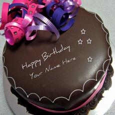 Birthday Cakes name pictures - Happy Birthday Chocolate Cake