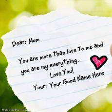 Happy Mothers Day - Design your own names
