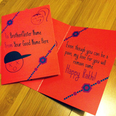 Events name pictures - Happy Rakhi Wish Card
