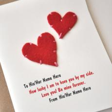 Hearts Card - Design your own names
