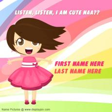 Cute name pictures - I am cute naa