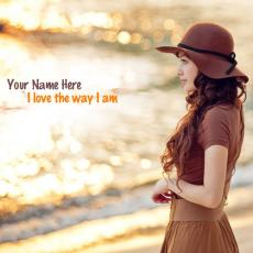 I love the way I am - Design your own names