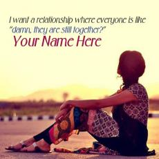 I want a relationship - Design your own names