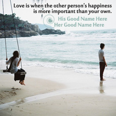 Love is Happiness - Design your own names
