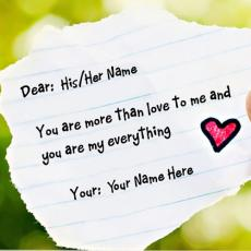 Love name pictures - Love Note