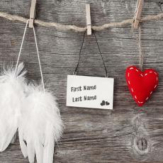 Love Tag Heart and Angel Wings - Design your own names