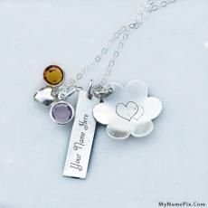 Lovely Silver Necklace - Design your own names