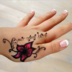 Mehndi Name Hand - Design your own names