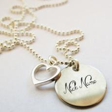 Nick Heart Necklace - Design your own names