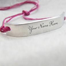 Pink Silver Personalized Bracelet - Design your own names