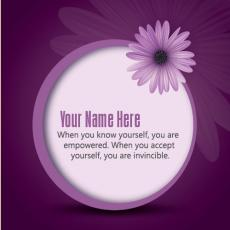 Purple Message - Design your own names