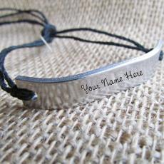 Silver Personalized Bracelet - Design your own names