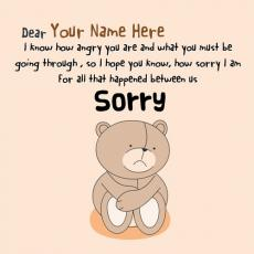 Cute name pictures - Sorry Dear Forgive Me